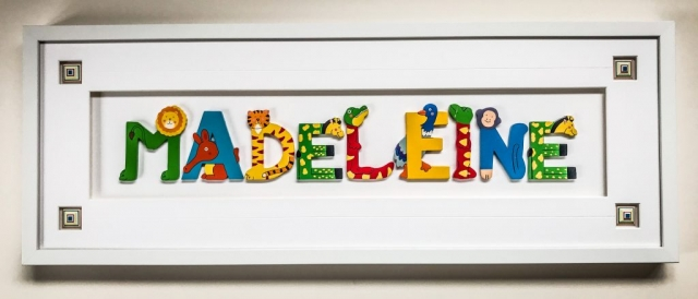 Child's name in letters  | Framed by Jules Sainter at Lovingly Framed