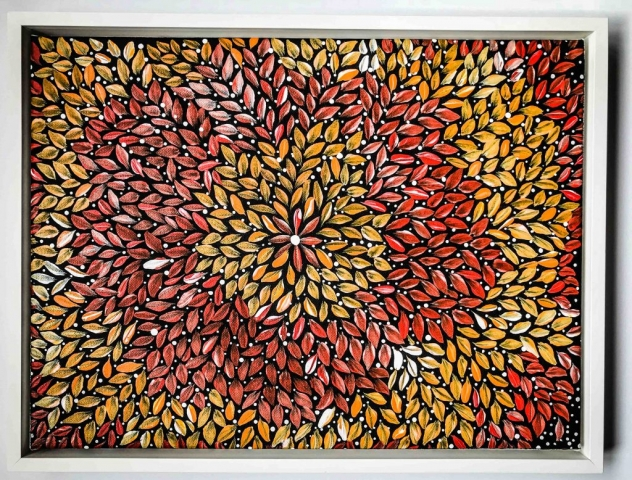 Australian Aboriginal Canvas | Framed by Jules Sainter at Lovingly Framed