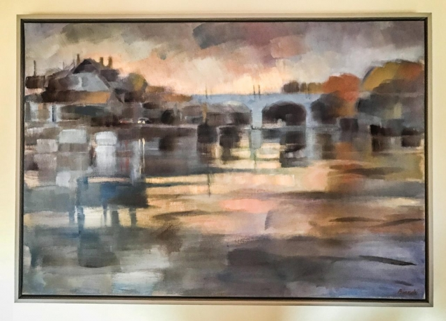 Claire Bianchi on Canvas   Framed by Jules Sainter at Lovingly Framed