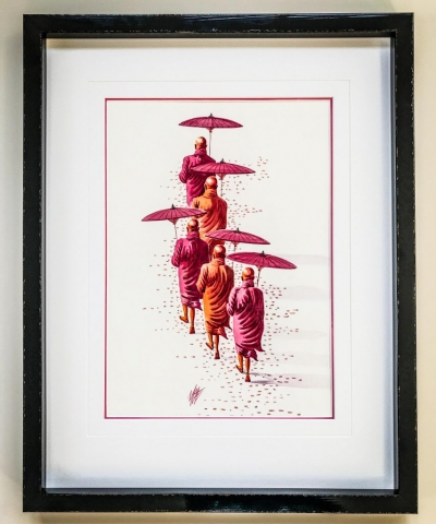 Burmese Monks | Framed by Jules Sainter at Lovingly Framed