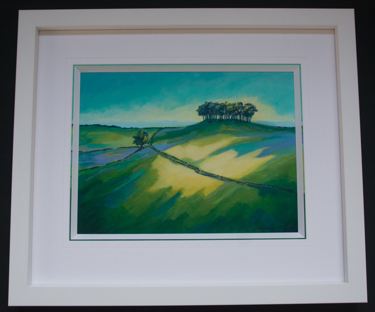 Wittenham Clumps | Lovingly Framed by bespoke framer, Jules Sainter