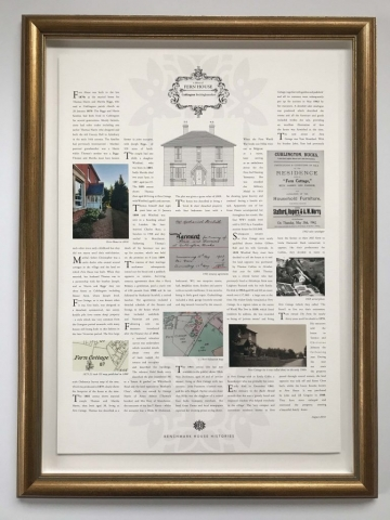 House History | Framed by Jules Sainter at Lovingly Framed