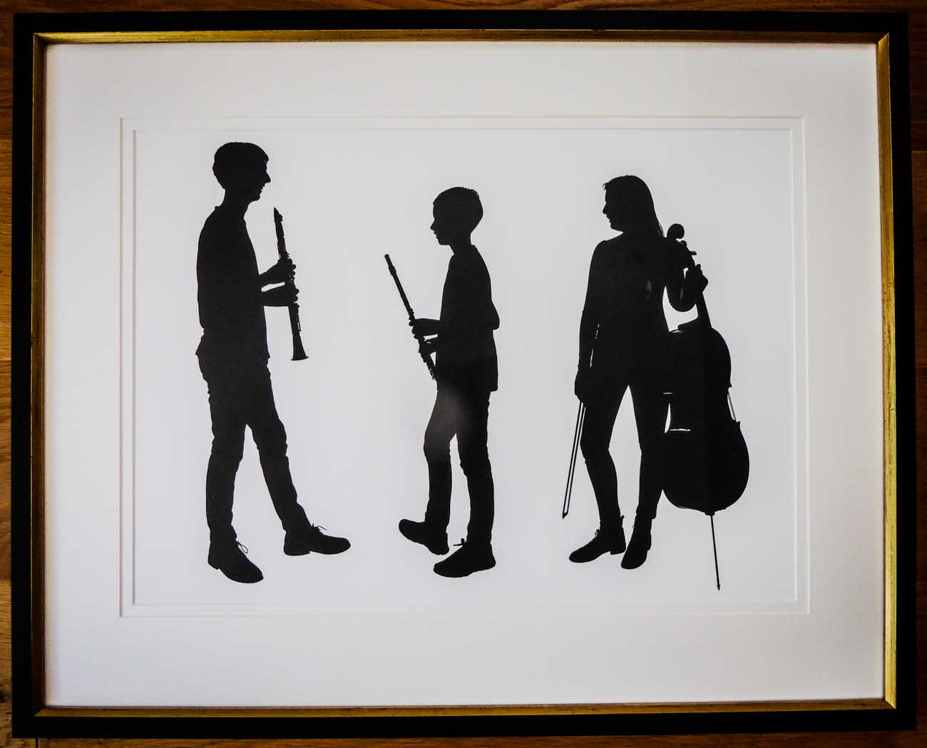 Musician Cut Out | Lovingly Framed by Buckinghamshire / Oxfordshire framer, Jules Sainter (lovinglyframed.co.uk)