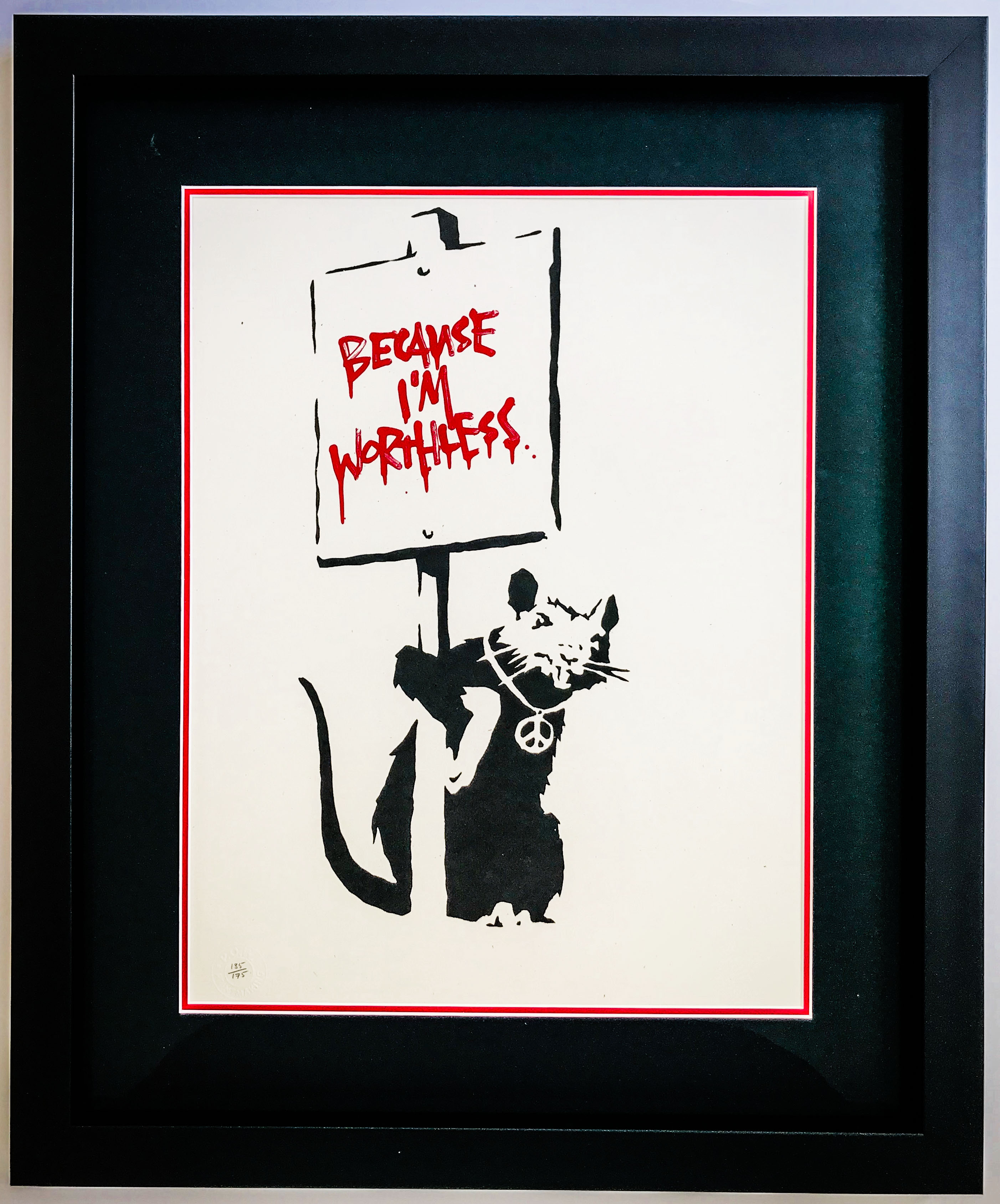 Banksy Limited Edition | Framed by Jules Sainter of Lovingly Framed