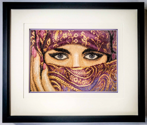 Beautifully crafted cross stitch | Framed by Jules Sainter of Lovingly Framed