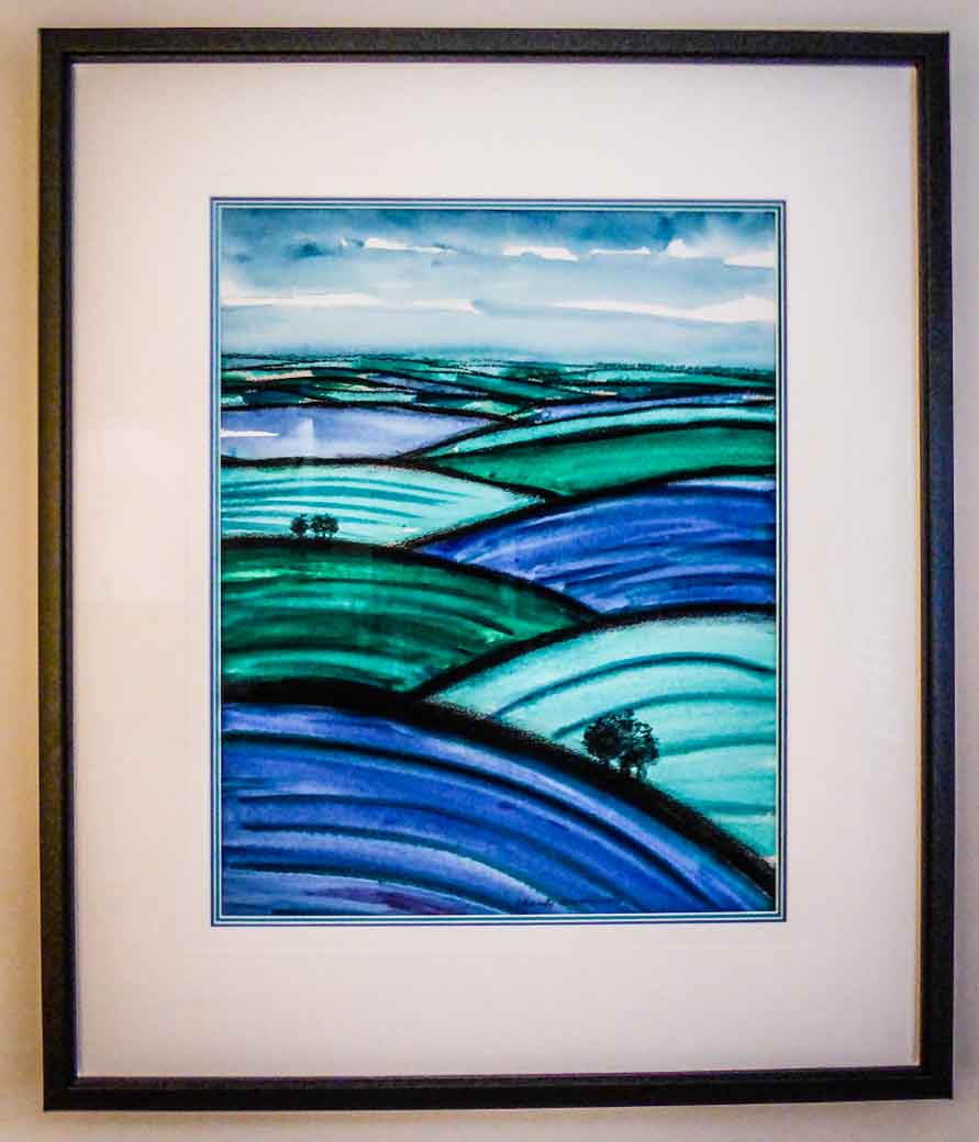 Charity Murray watercolour | Lovingly Framed by bespoke framer, Jules Sainter