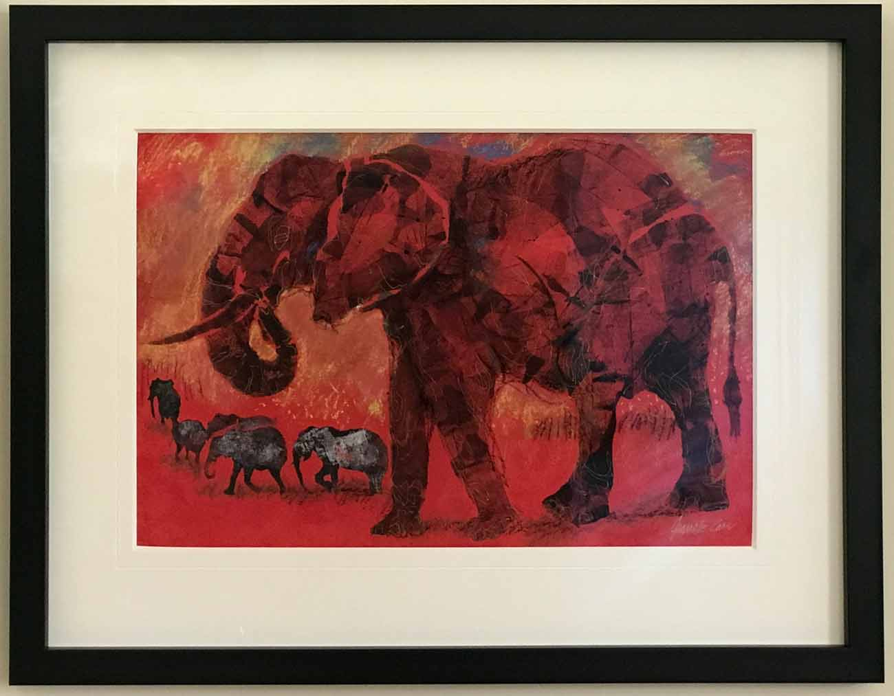 Old Elephant by Jeanette Carr | Lovingly Framed by Oxfordshire / Buckinghamshire framer, Jules Sainter