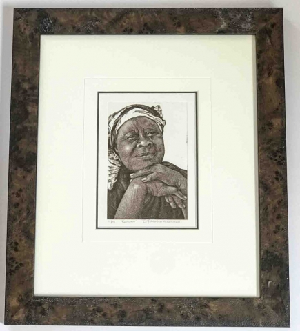 South African etching | Lovingly Framed by Oxfordshire / Buckinghamshire framer, Jules Sainter