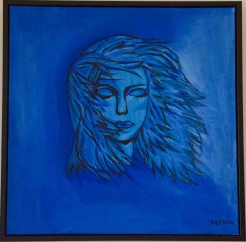 Drowning Woman by Amy Wilks   Lovingly framed by Jules Sainter