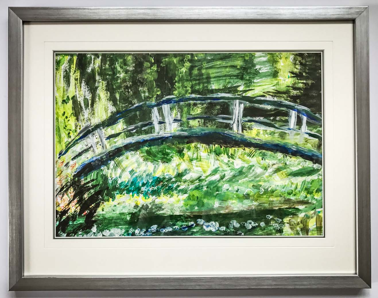Monet Interpretation in an Elegant Silver Frame | Framed by Jules Sainter at Lovingly Framed