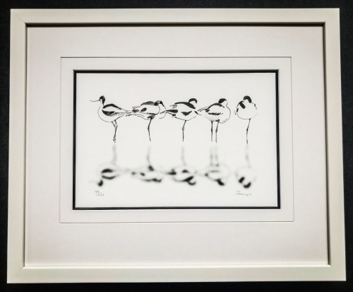Stork Reflections  Lovingly Framed by Jules Sainter