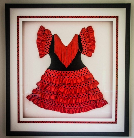 Child's flamenco dress | Framed by Jules Sainter of Lovingly Framed