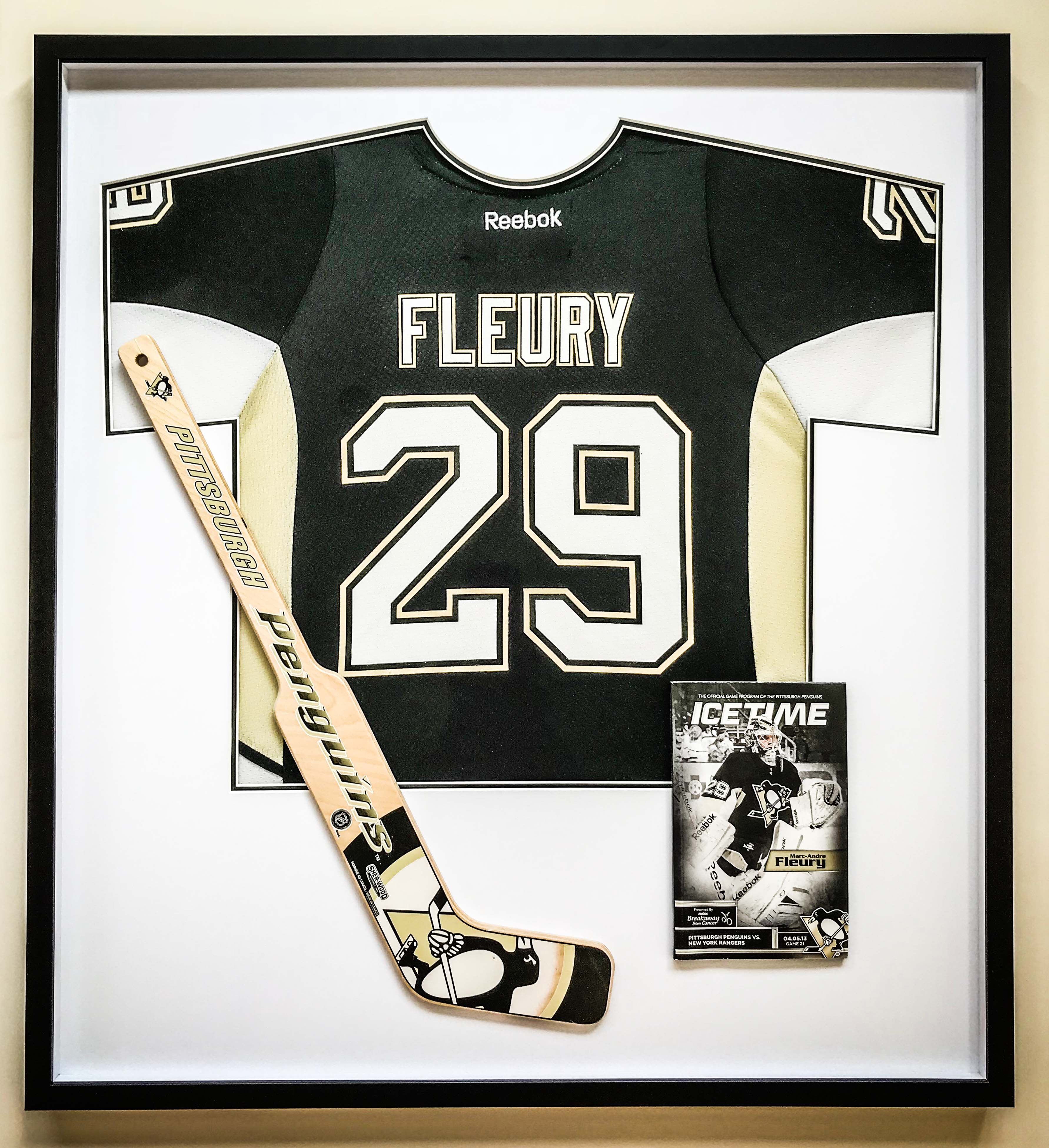 Ice hockey memorabilia | Framed by Jules Sainter of Lovingly Framed