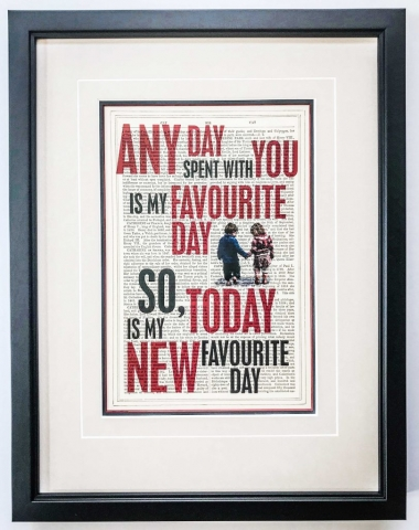 Any Day print | Creatively Framed by Jules Sainter of Lovingly Framed