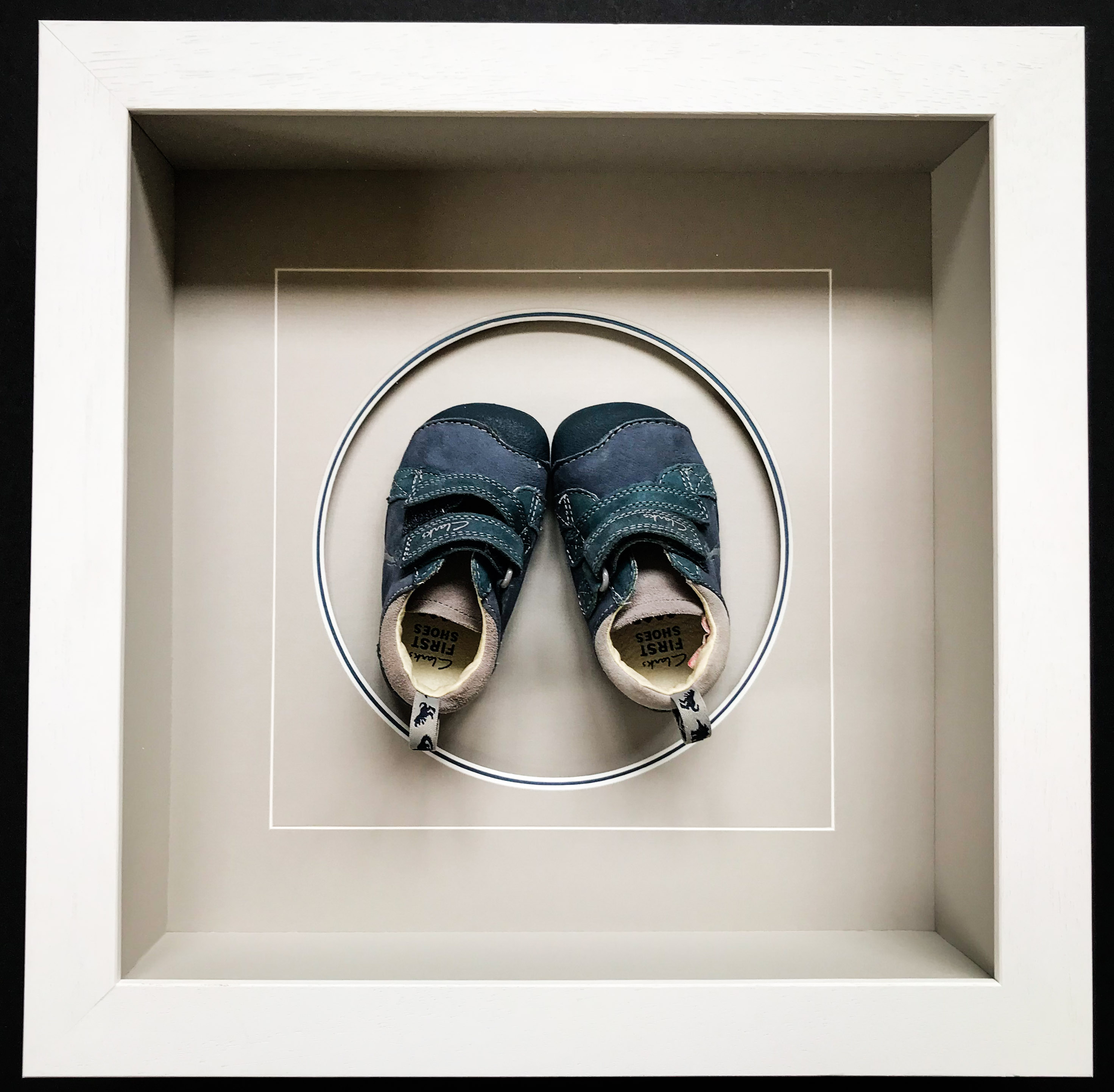 Baby Boy's First Shoes | Framed By Jules Sainter of Lovingly Framed