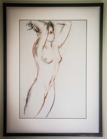 Nude by Jane Waller | Lovingly Framed by Jules Sainter