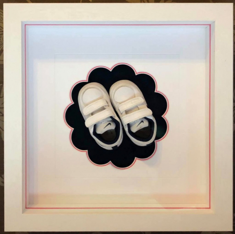 Rosie's First Trainers | Framed by Jules Sainter of Lovingly Framed