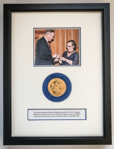 Presentation Photo and Medal | Framed by Jules Sainter of Lovingly Framed